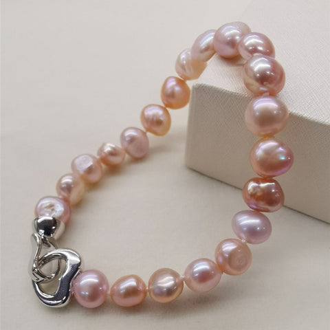 Image of Natural Freshwater Pearl Bracelet Black/White/Pink/Purple Pearl Bracelet Fine Pearl Jewelry For Women