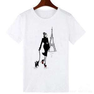 Vintage Girl Shirt Summer Fashion Women Novelty Casual T Shirt Hipster Cool Ladies