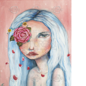 Faust Dream, póster Pink Rose. Art Print