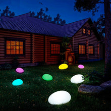Load image into Gallery viewer, Solar Light Lamps Cobble Stone Lamp Light LED Solar Lighting Remote Control Colorful Garden Decoration New Swimming Pool Ball