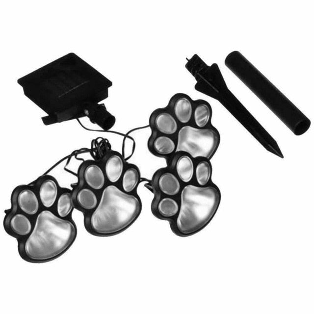 LED Solar Garden Light Outdoor Waterproof for Garden Decoration Dog Cat Animal Paw Print Lights Path Lawn Lamp