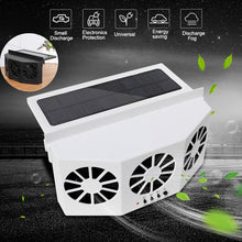 Load image into Gallery viewer, 2 Colors High-power Dual-mode Power Supply Car Solar Powered Exhaust Fan Auto Ventilation Fan Car Gills Cooler