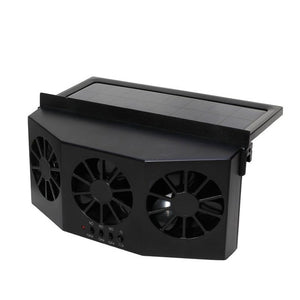 2 Colors High-power Dual-mode Power Supply Car Solar Powered Exhaust Fan Auto Ventilation Fan Car Gills Cooler