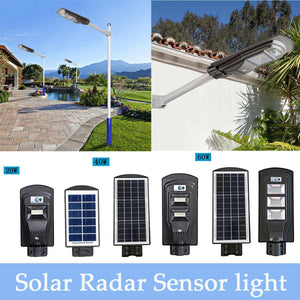 40/80/120 LED Solar Powered PIR Motion Sensor Wall Light Waterproof Outdoor Garden Flood Light Road Street Pathway Lamp