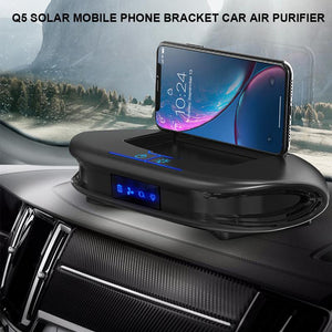 Multi-functional 3 In 1 Negative Ion Air Purifier Q5 Solar Charger Mobile Phone Holder For Home Office Car