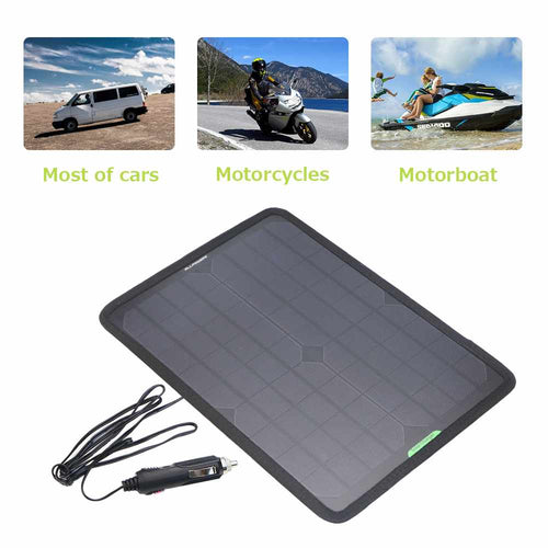 12V 10W Solar Panel Car Battery Maintainer Charger