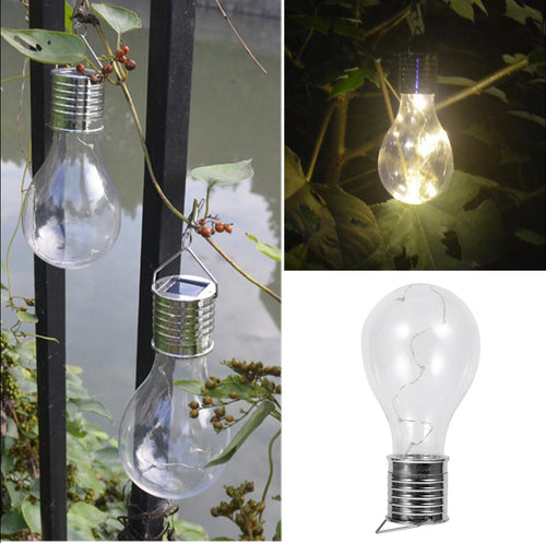 Solar Copper Wire Hanging Lights Lamp Bulb Warm White Sun Board Supply