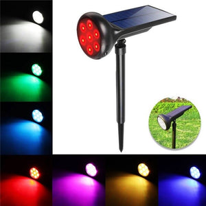 RGB Solar Landscape Spotlight Pathway Outdoor Garden Waterproof Auto On/off Wireless Sun Power Landscape Lighting Color Changing