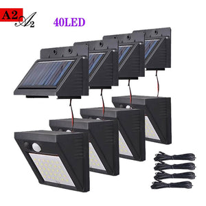 A2 Solar night Light 40LED garden lamp Motion Sensor used solar energy power suit Home outdoor Street Yard Path fence