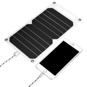 Portable 10W Outdoor Solar Energy System USB Solar Panel Mobile Power Charger Universal High Efficiency IP62 Waterproof