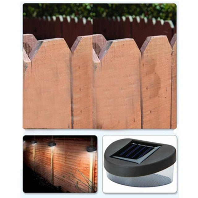 Solar Power Panel Landscape Lawn Fence Wall LED Solar Light Lamp Waterproof 6 LED Solar Lamp Outdoor Garden Decoration