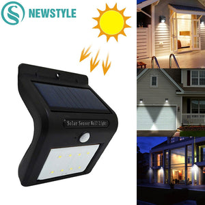 Outdoor Waterproof LED Solar Light 8/16 Motion Sensor Wireless Solar Power Lamp Garden Wall Yard Deck Security Night Light