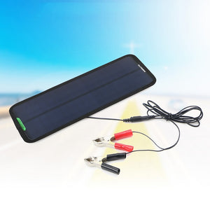 18V 7.5W Outdoor Waterproof Portable Solar Charger No Need Built-in Battery For 12V Car Motor Solar Board Car Cigarette Charger