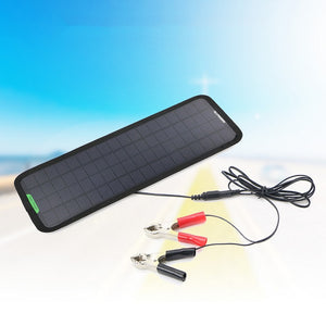 Portable 18V 5W Monocrystalline Silicon Solar Panel Car Charger For The Battery Of 12V Car Motorcycle And Other 12V Equipment