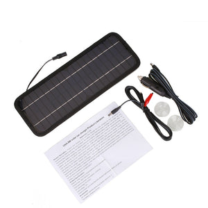 High quality Monocrystalline Solar Panel 12V 4.5W  Car Automobile Portable Solar Cells Rechargeable Power Battery Charger