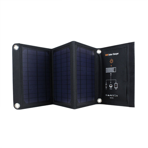 FactorySale! 16W/5V/2.6A Frosted Waterproof Portable Folding Solar Panel Charger Dual USB Port Controller Pack for Phone PSP MP4