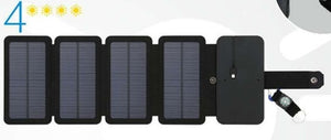 KERNUAP SunPower folding 10W Solar Cells Charger 5V 2.1A USB Output Devices Portable Solar Panels for Smartphones