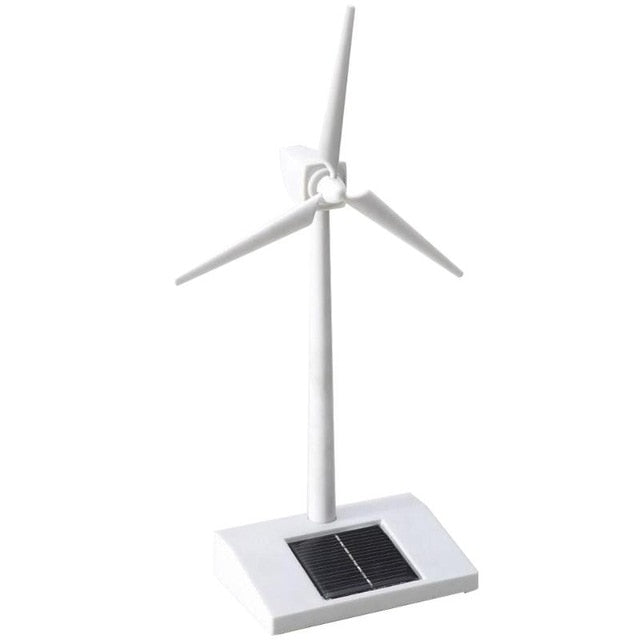 Solar Powered 3D Windmill Assembled Model Education Fun Kids Toys Gift ABS Plastics Wind Turbine for Kids Children Toys