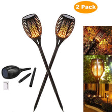 Load image into Gallery viewer, Solar Flame Flickering Garden Lamp Torch Light IP65 Outdoor Spotlights Landscape Decoration Led Lamp for Garden Pathways