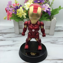 Load image into Gallery viewer, Cute Solar Powered Dancing Figures Marvel Batman Treeman One Piece Swinging Bobble Dancer Solar Toys Ironman Car Decoration Gift