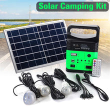 Load image into Gallery viewer, Portable Solar Generator Outdoor Power Mini DC6W Solar Panel 6V-9Ah Lead-acid Battery Charging LED Lighting System