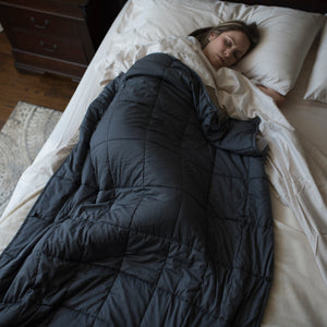 Grey Twin Weighted Duvet