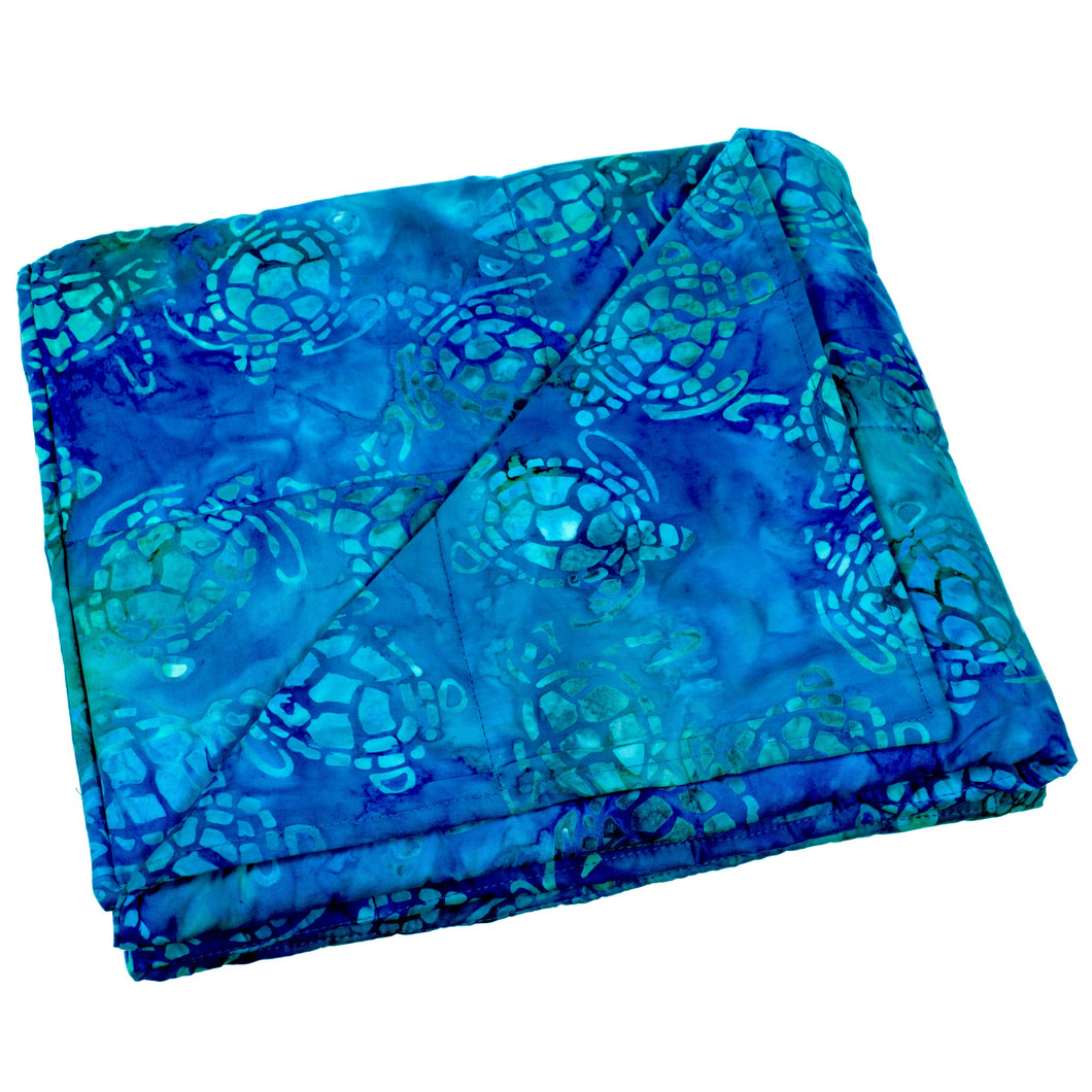 Blue Turtles Weighted Blanket