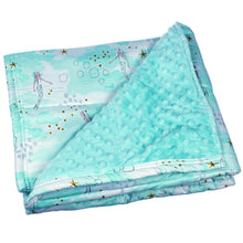 Load image into Gallery viewer, Aqua Mermaid Weighted Blanket