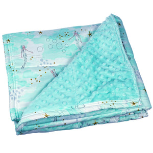 Aqua Mermaid Weighted Blanket
