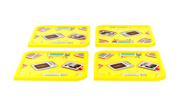 Telly - 4 Coaster Set