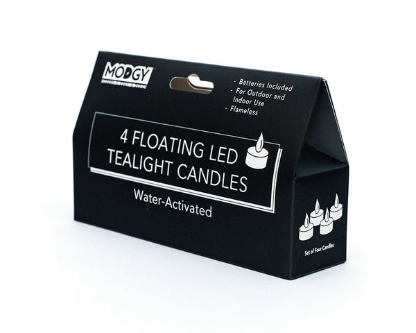 Water-Activated LED Floating Candles, Pack of Four