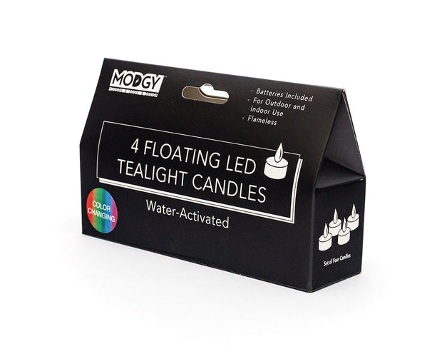 Water-Activated LED Floating Multi-Color Candles, Pack of Four 1