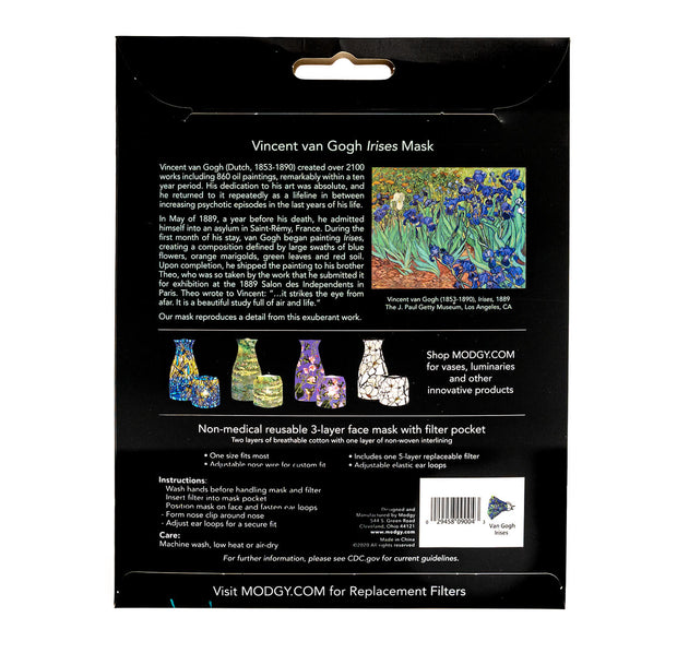 Van Gogh Irises Fashion Mask 1
