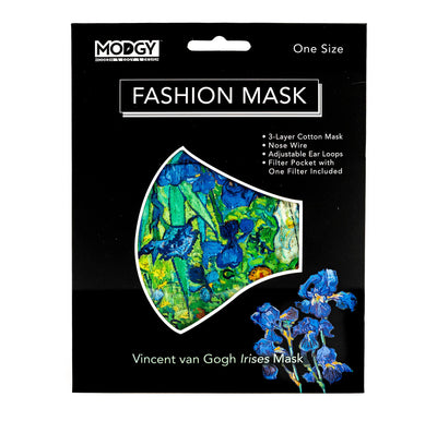 Van Gogh Irises Fashion Mask