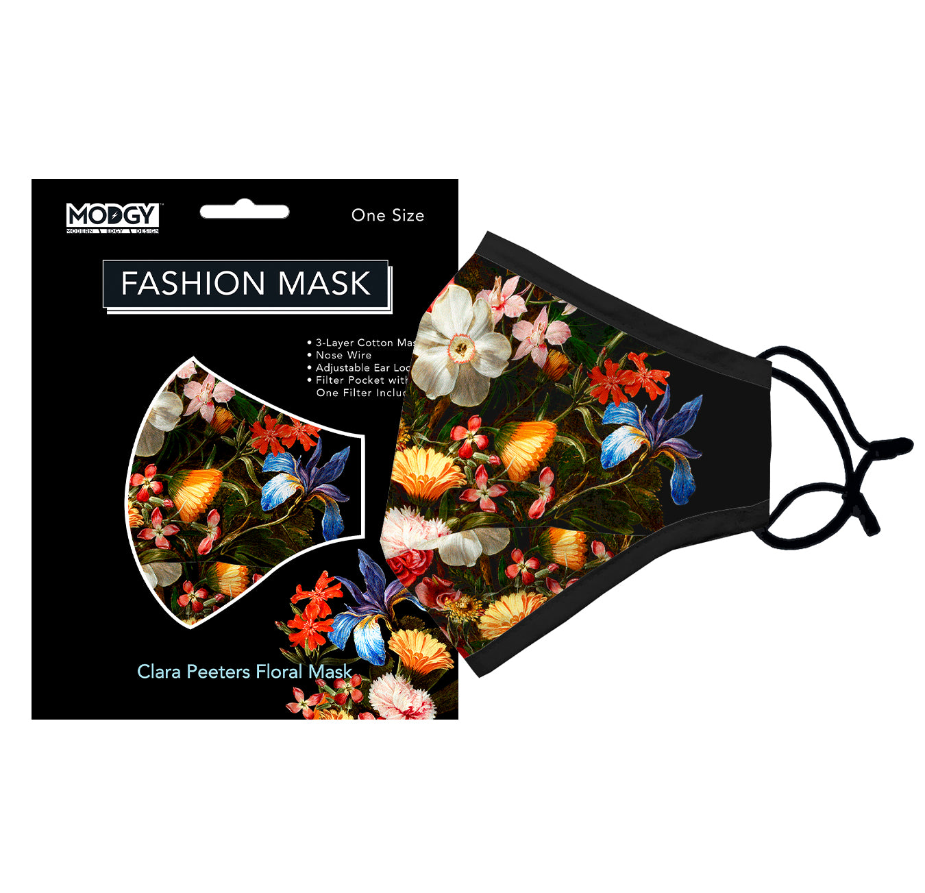 Clara Peeters Floral Fashion Mask