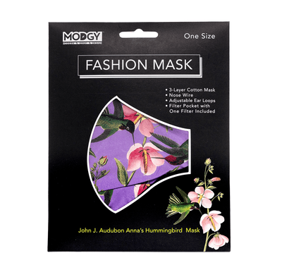 John J. Audubon Anna's Hummingbirds Fashion Mask