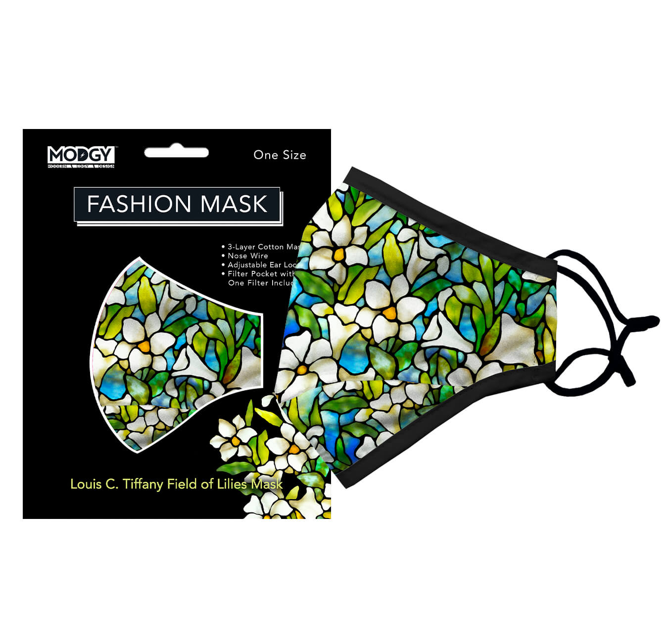Louis C. Tiffany Field of Lilies Fashion Mask