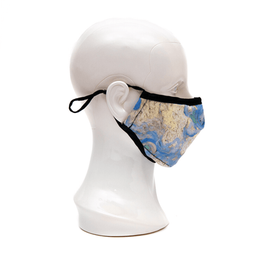 Van Gogh Wheat Field with Cypresses Sky Fashion Mask