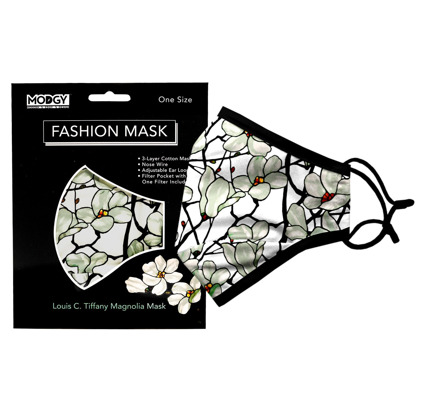 Louis C. Tiffany Magnolia Window Fashion Mask