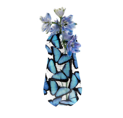 Blue Morpho Butterfly Suction Cup Vase