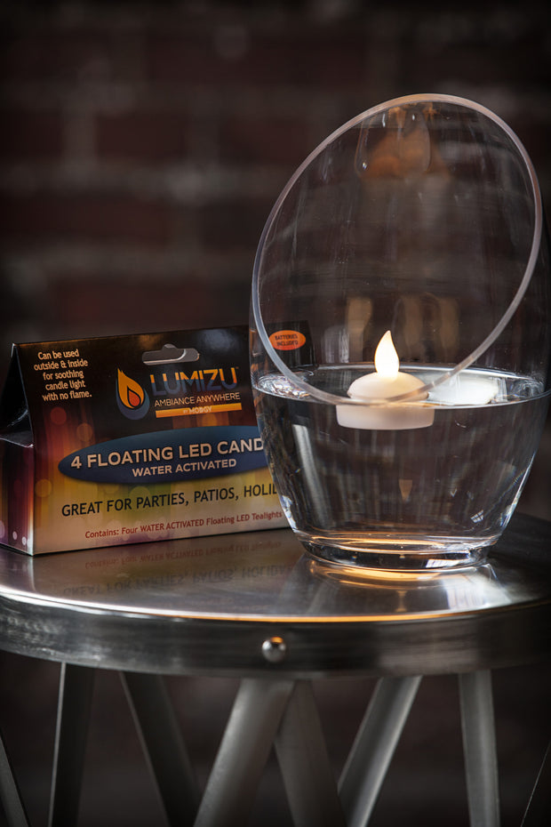 Water-Activated LED Floating Candles, Pack of Four 1