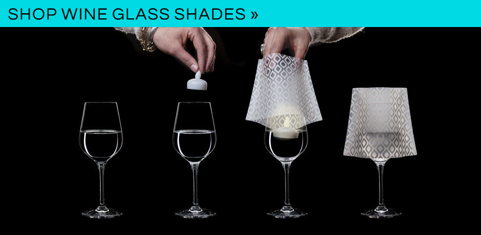 Modgy Wine Glass Shades with LED Candles