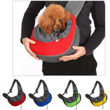 Pet Puppy Carrier Bag Outdoor Travel Handbag Pouch Mesh Single Shoulder Bag Sling Travel Shoulder Bag for Dogs S/L Memory Foam