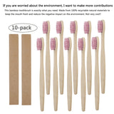 Eco-Friendly Natural Bamboo Toothbrushes 10pcs
