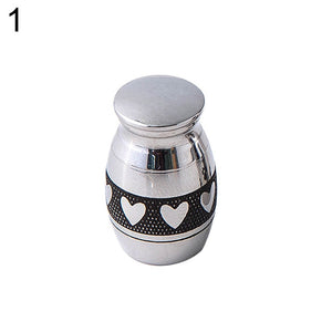 Mini Stainless Steel Paw Heart Cremation Urn Dog Pet Cinerary Funeral Casket Pet Memorials