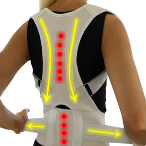Adjustable Magnetic Posture Corrector Corset Back Brace Back Belt Lumbar Support Straight Corrector Back Support Belt S-XL