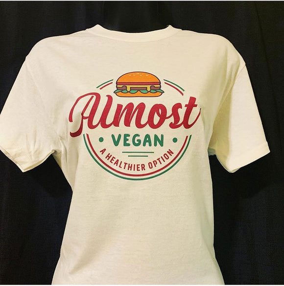 Almost Vegan Red Lettering T-Shirt