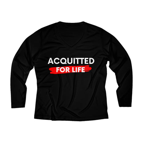 ACQUITTED FOR LIFE Women's Long Sleeve V-neck