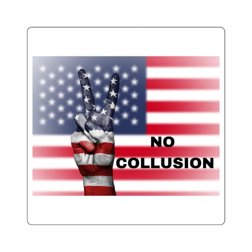 NO COLLUSION Square Stickers