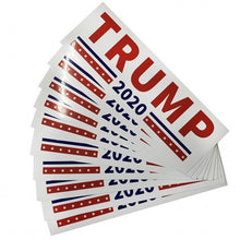 Load image into Gallery viewer, Trump 2020 Decal Bumper Stickers -- 5 or 10 Count